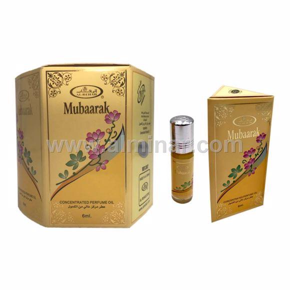 Picture of Box of 6 - Mubaarak Attar 6ml Rollon Bottle By Al-Rehab (UAE)