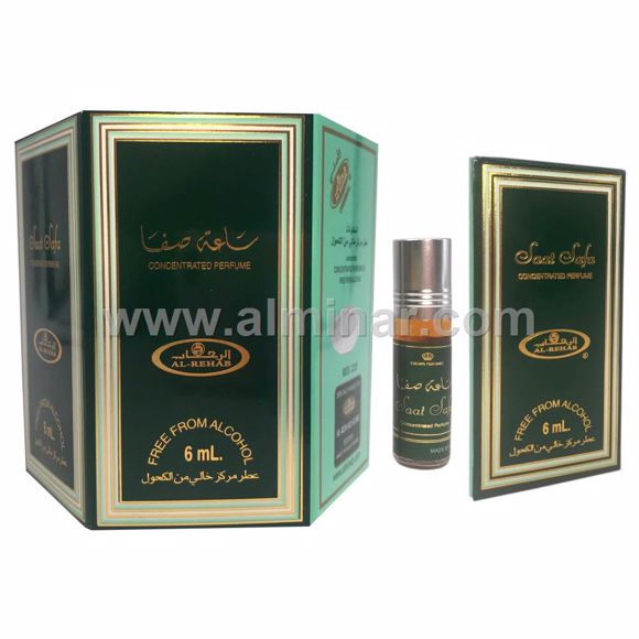 Picture of Box of 6 - Saat Safa Attar 6ml Rollon Bottle By Al-Rehab (UAE)