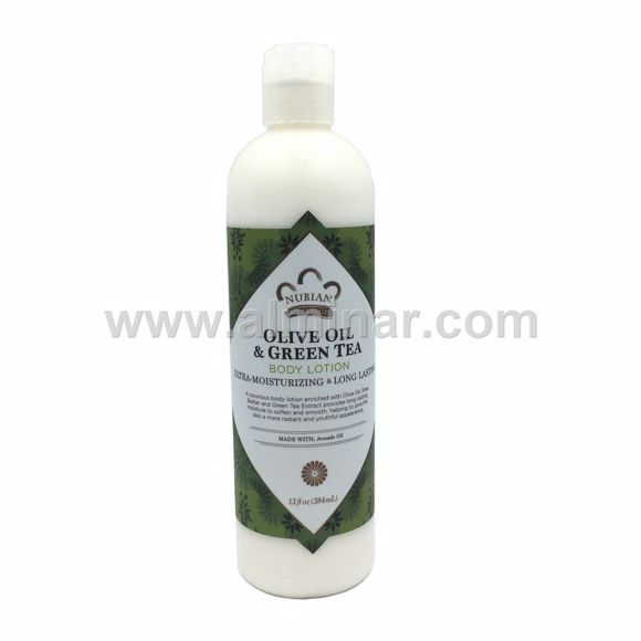Picture of  Nubian Heritage -Olive & GreenTea Body Lotion. 13 oz