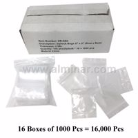 "Picture of 2"" x 2"" Zip Lock Bags (16000 Pcs) - Clear - 2 MIL Thickness"
