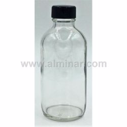 Picture of 4 oz Clear - 128 Boston Round Glass Bottle with Cap