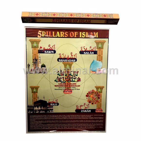 Picture of 5 Pillars of Islam - Poster - Medium Size