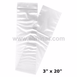 "Picture of 3"" x 20"" Zip Lock Bags - Clear - 2 MIL Thickness"