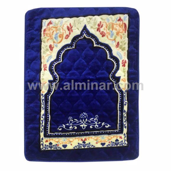 Picture of Premium Quality Quilted Velvet Prayer Rug w/ Padding - 80cm x 120cm