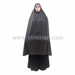 """Picture of Overhead Hijab - 57"""" Long - Dark Brown Color"""