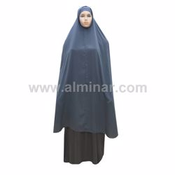 """Picture of Overhead Hijab - 57"""" Long - Dark Gray Color"""