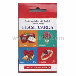 "Picture of Arabic Alphabet Flash Cards - Arabic/English - 4.5"" x 3.0"" - 28 Colorful Cards by IBS"