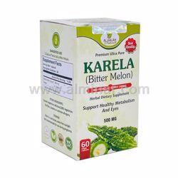 Picture of Bitter Melon 4:1 Premium Extract Capsules - 500mg [60 Capsules] [Halal/Vegetarian]