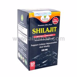 Picture of Shilajit 4:1 Premium Extract Capsules - 500mg [60 Capsules] [Halal/Vegetarian]